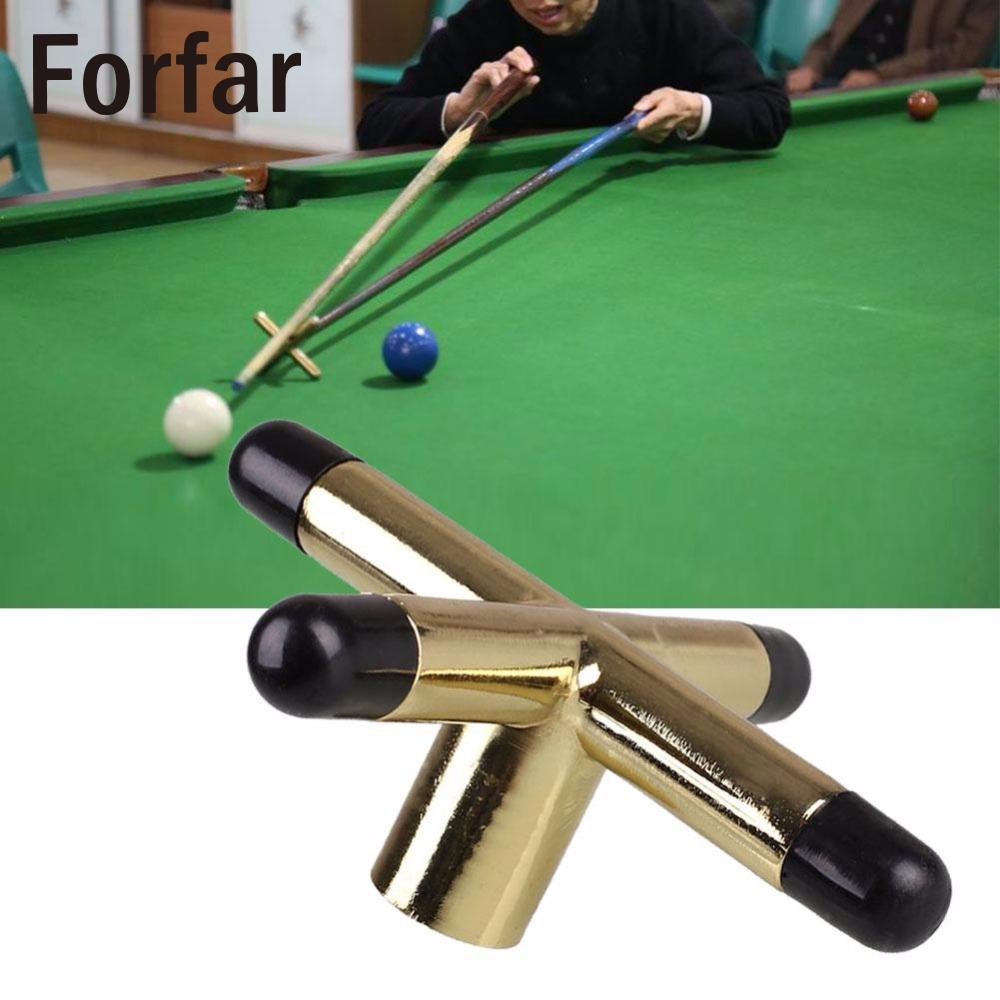 Forfar Game Snooker Cross Rest Tool Metal Head Screw Snooke Table Brackets Cue Holder Pool Brass Billiards Accessories