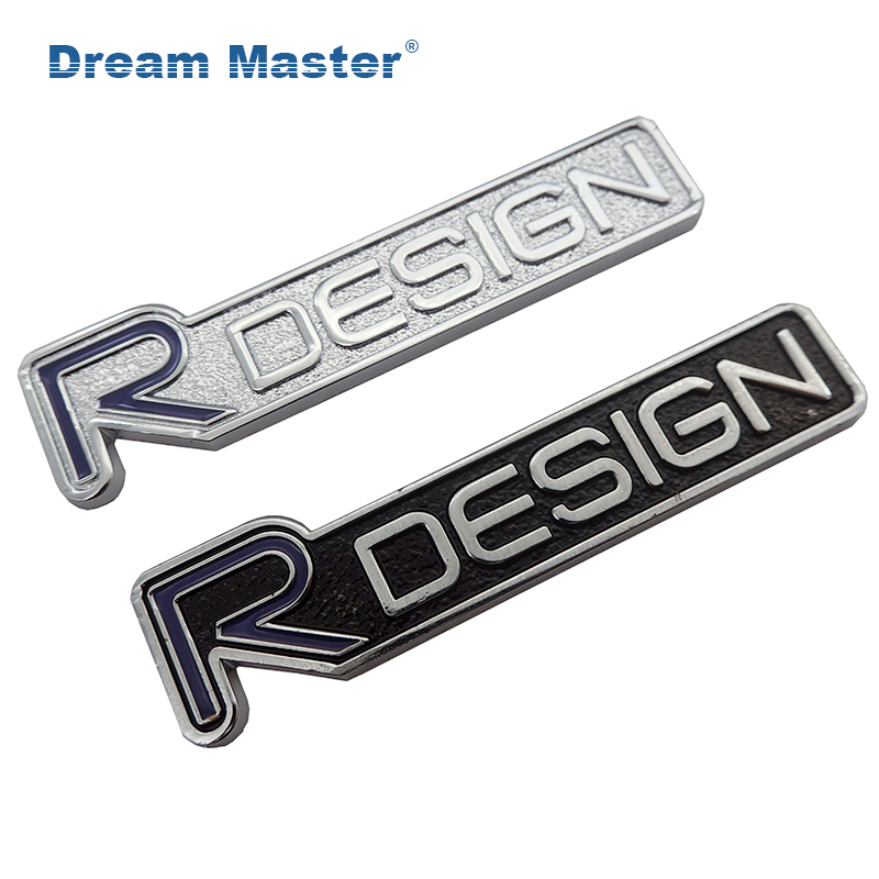 VOLVO R DESIGN CHROME 3D METAL BADGE EMBLEM LOGO STICKER XC60 S40 S60 V60 XC90