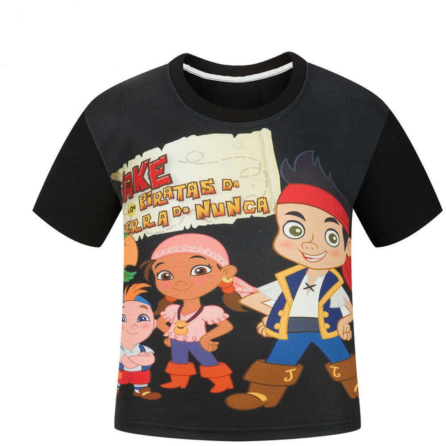 Jake and the Neverland Pirates Children's T-Shirt boy short sleeve t shirts