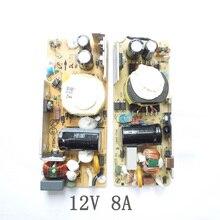AC DC 12 V 8A zasilacz impulsowy płytka drukowana modułem do monitora LCD 8000MA 100 240 V 50/60 HZ 12.6*5.4*2.4 CM SMPS