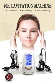 2019 new Portable Home 2 In 1 40K Ultrasonic Vacuum Cavitation Slimming 5M RF Multipolar Beauty Machine With 3 Treatment Tips
