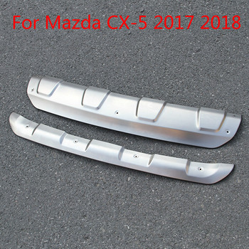 High Quality  Stainless Steel Front And Rear Bumper Skid Protector Plate Cover For Mazda Cx-5 2017 2018 Car Styling  2pcs/set