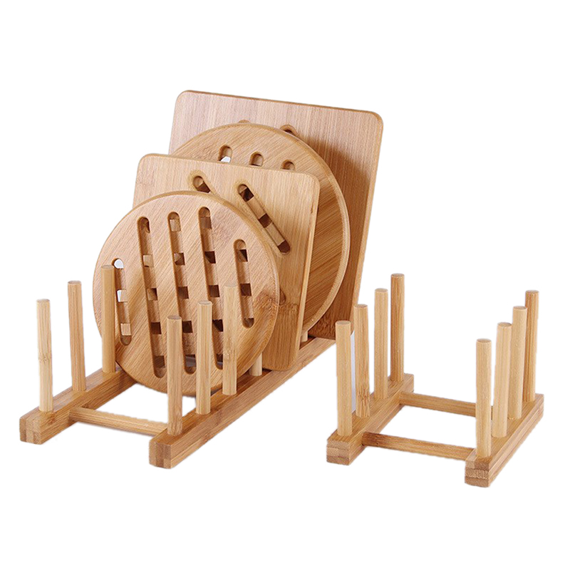 Dish Rack Wooden Plate Stand Wood Kitchen Cup Display Drainer Holder Best Durabl