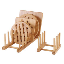 1Pc Drainer Foldable Wooden Dish Rack Kitchen Storage Rack Plate Cups Stand Display Holder Drying Rack Kitchen Storage Organizer(China)
