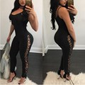 Women Jumpsuits 2017 Sleeveless Strappy Fitness Tank Bodysuit Plus Size Overalls Casual Party Bodycon Jumpsuit Rompers Playsuits