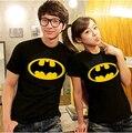 new 2014 korean fashion clothing for womens mens/ superman t shirt /batman t shirt free shippingT-show2013 lovers t-shirt batman