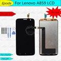 100% garantía de reemplazo lcd con pantalla táctil digitalizador asamblea para lenovo a859 + herramientas de envío gratis