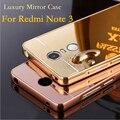 Xiaomi redmi note 3 espelho luxo aluminum case de metal ultra slim acrílico capa para xiaomi redmi note 3 pro prime edição especial
