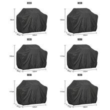Cubierta de barbacoa impermeable negra, accesorios de parrilla de barbacoa antipolvo y lluvia la parrilla de barbacoa de gas de carbono