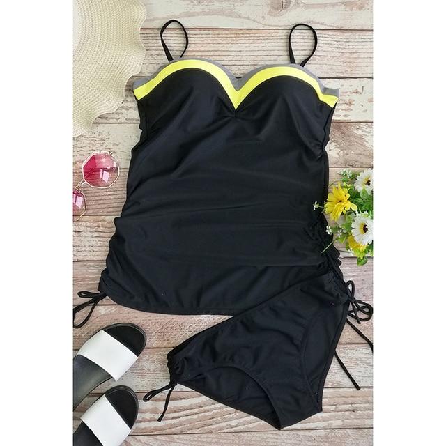 Push up bikini 2019 Swimwear Women Swimsuit biquini monokin high waist bathing suit two pieces beach swimming suit plus size 3XL 10