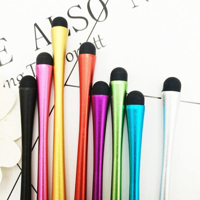 Capacitive Stylus Pen Metal Mesh Micro Fiber Tip Touch Screen Stylus Pen For Smart Color Random