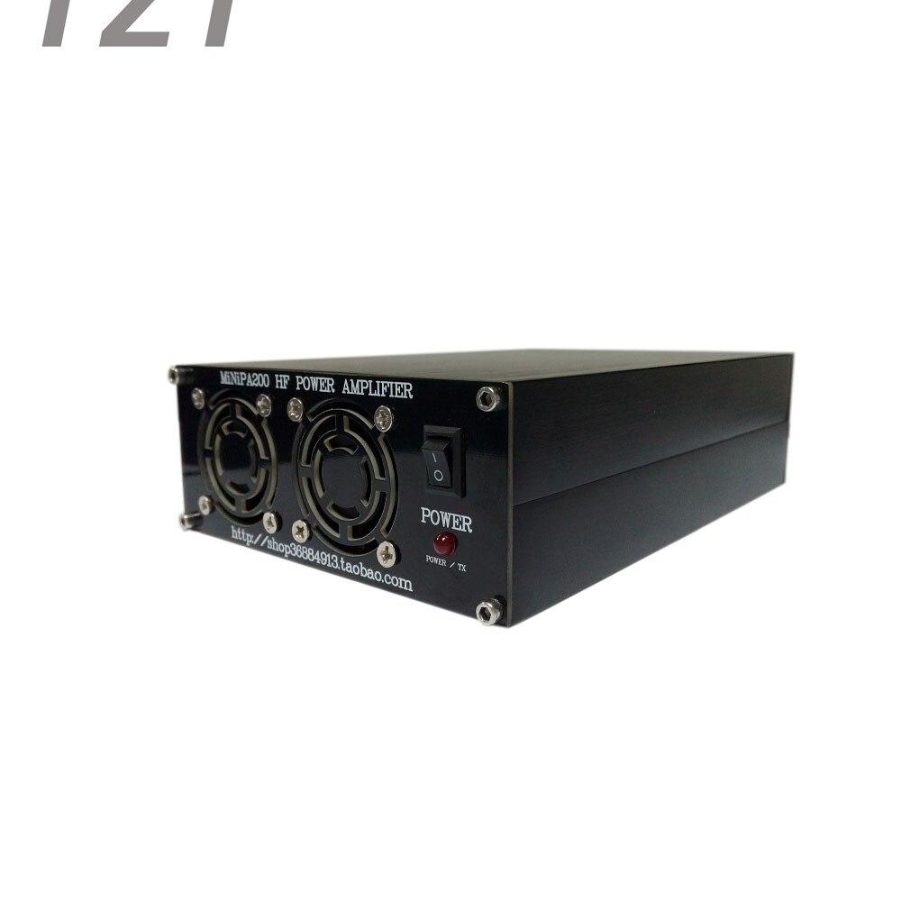 MiNi 200W HF Power Amplifier Shortwave Power Amplifier Assembling Needed 2mhz 40mhz 50w 12 15v hf power amplifier shortwave power amplifier broadband rf amplifier