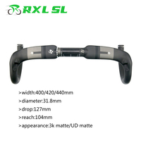 RXL SL Carbon Handlebar Road Bike 31.8mm XXX Handlebars Carbon Bike Road Free Gift Handlebar Tape 400/420/440 Bicycle Handlebars