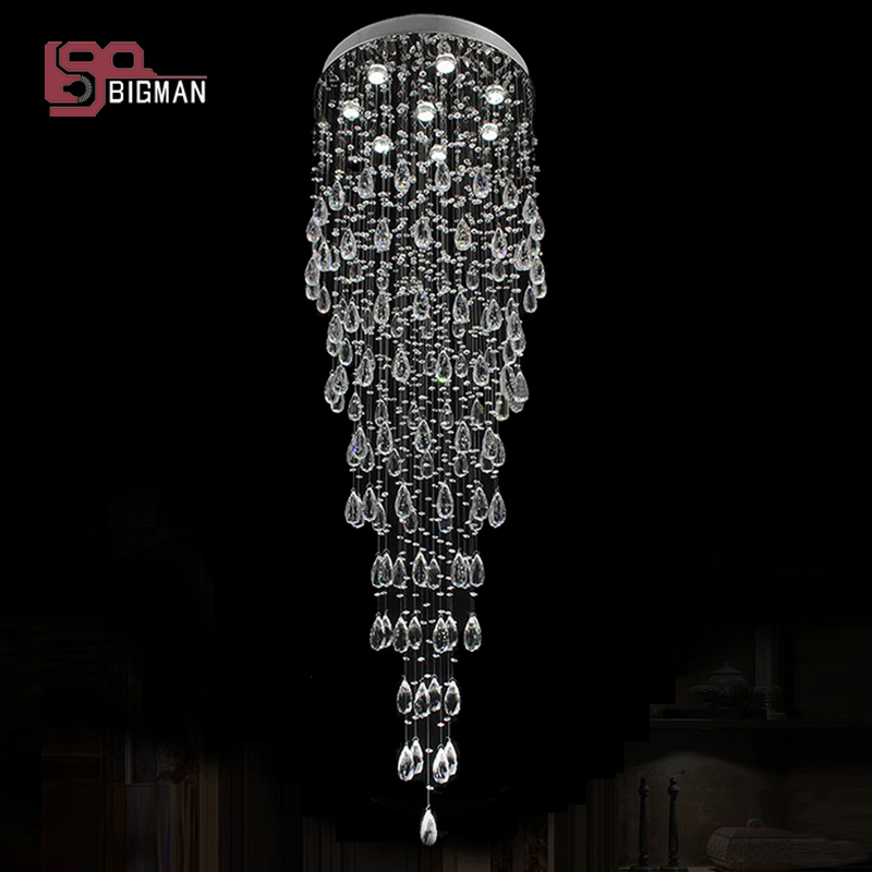 hot selling flush mount modern chandeliers crystal lamps lustres foyer lights free shipping