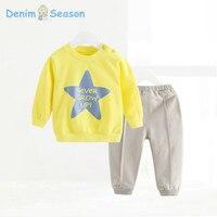 Denim Season Roupa Infantil Newborn Baby Boy Clothes Christmas Outfits Girl Baby Clothing Set Star Printing