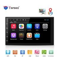 Topbox 2Din android dvd плеер автомобиля gps + Wifi + Bluetooth + радио + 4 ядра 7 дюймов 1024*600 экран стерео радио