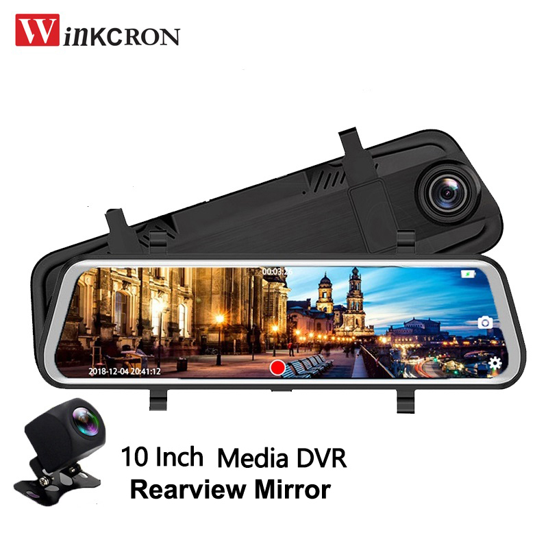 Car Dvr Rearview-Mirror Car-Video-Player Camera Auto Stream Media With FHD 1080P Intelligent-System