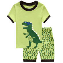 New Summer Kids Pajamas Cartoon Dinosaur Childrens Set