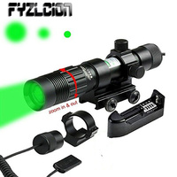 FYZLCION Adjustable Green Laser Sight Designator/Illuminator/Flashlight W/Weaver Mount