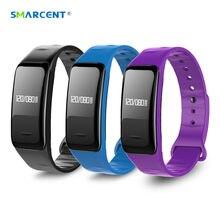 Smarcent Bluetooth Smart Band Presión arterial & Heart Rate Мониторы браслет Водонепроницаемый Фитнес Браслет Сна Трекер SmartBand
