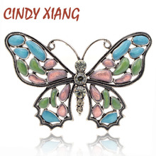 CINDY XIANG Beautiful Enamel Butterfly Brooches for Women Vintage Insect Pins Brooch Winter Style Coat Dress Accessories Gift