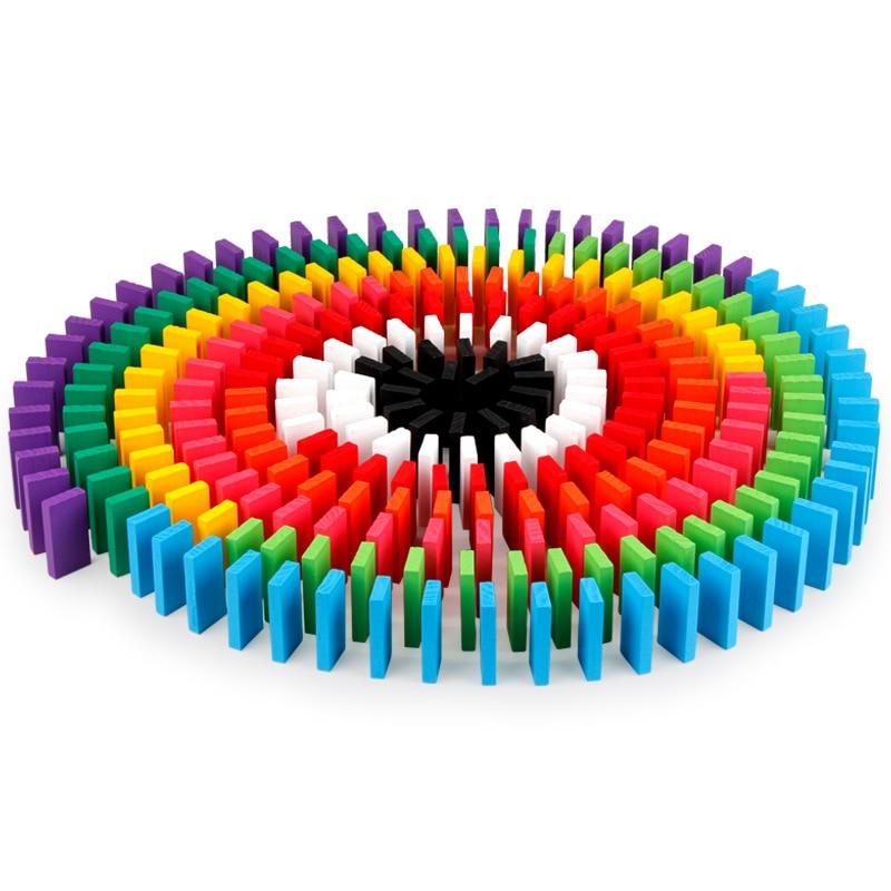 OfficiëLe Website 240 Stks Gekleurde Domino Regenboog Houten Educatief Speelgoed Kids Early Learning Domino Blokken Spelletjes Kerstcadeau Speelgoed Voor Kinderen In Veel Stijlen