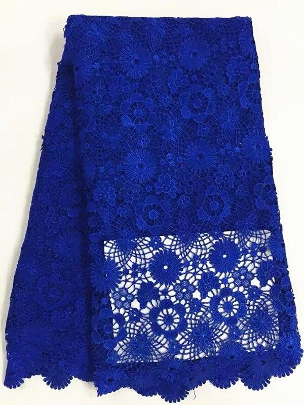 Gyönyörű királyi kék virágmintás afrikai vízoldható - Művészet, kézművesség és varrás