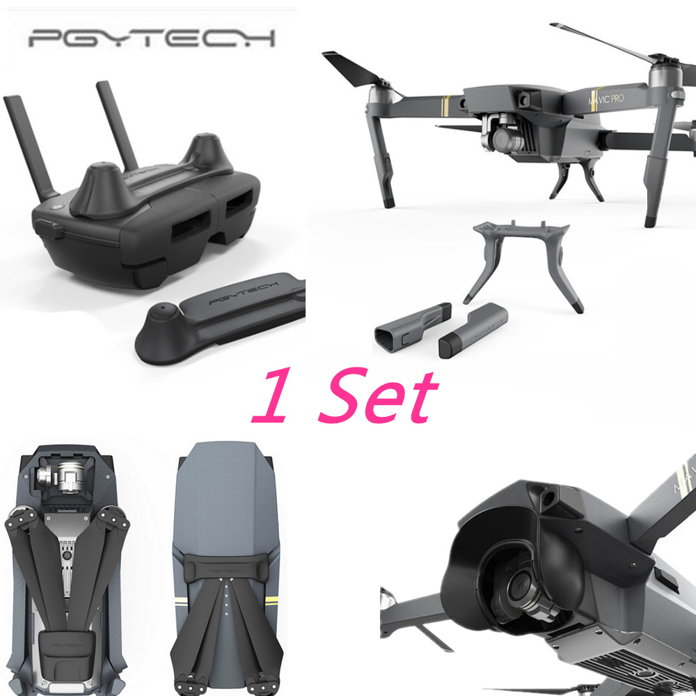 PGYTECH Drone Set Stick Rocker Protector Holder Extended Leg Protector Sun Shade Holder Protection Guard for DJI MAVIC PRO remote control screen and rocker protector for dji mavic pro black