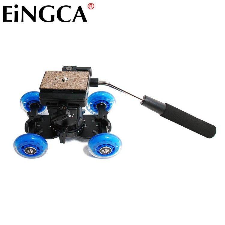 Caméra vidéo professionnelle trépied Action fluide glisser tête + Mini photographie voiture film Kit accessoires pour 5D3 6D D600 D800 DSLR