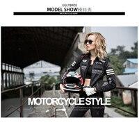 UglyBROS Featherbed-UBJ107 Mujeres denim chaqueta de la motocicleta ropa classic retro bicicleta de carreras juego de invierno modelos