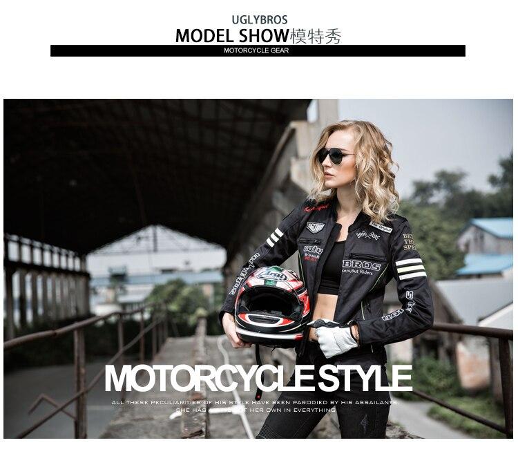 uglyBROS Перину - UBJ107 женщин мотоцикл куртка деним одежда классический ретро гоночный велосипед зимние модели костюм