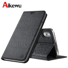Aikewu For iPhone X Case iPhone10 Luxury Leather Book Style Flip Cover for Apple Full Protection iPhoneX