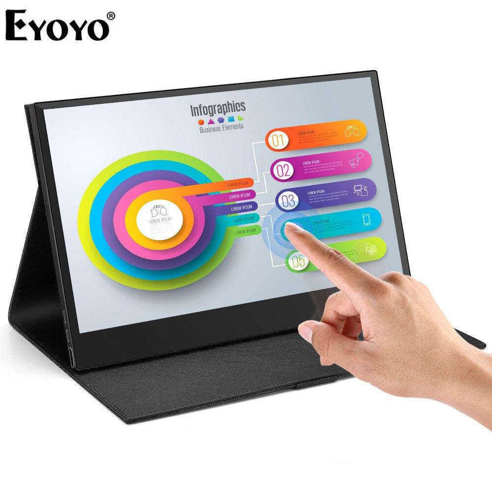 """Eyoyo 13.3 """"nouveau moniteur d'ordinateur Portable PC HDMI PS3 PS4 Xbo x360 1920x1080 IPS écran LED lcd moniteur pour Raspberry Pi"""