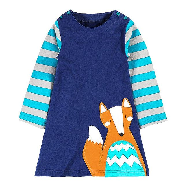 Kidsalon Toddler Dresses Girls Clothing 100% Cotton 2017 Brand Autumn Baby Girls Dress Tunic Jersey Princess Dress Kids Clothes