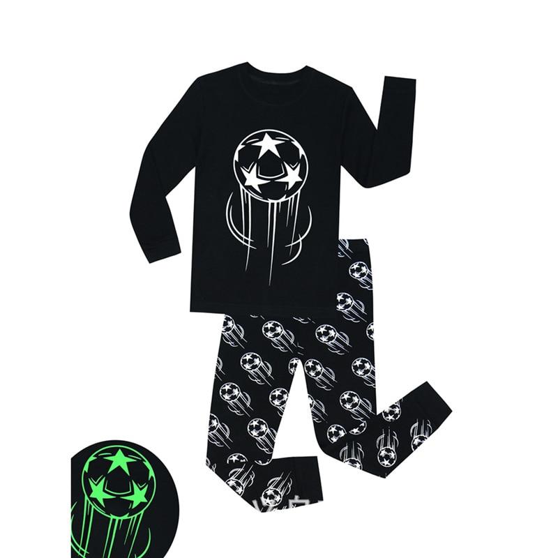 TUONXYE Boys Luminous Dinosaur Pajamas Kids Pajamas Set Cotton Child Pyjamas Children Long Sleeve Homewear Girls Sleepwear Set 2