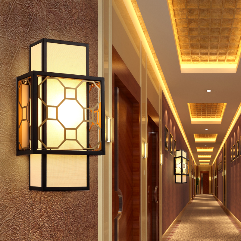 new style 27de8 b25f4 US $258.0 |New Chinese wall lamp Chinese classical wall lamp creative  bedroom living room decorative lighting wall light-in LED Indoor Wall Lamps  from ...