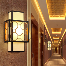 New Chinese wall lamp classical creative bedroom living room decorative lighting light
