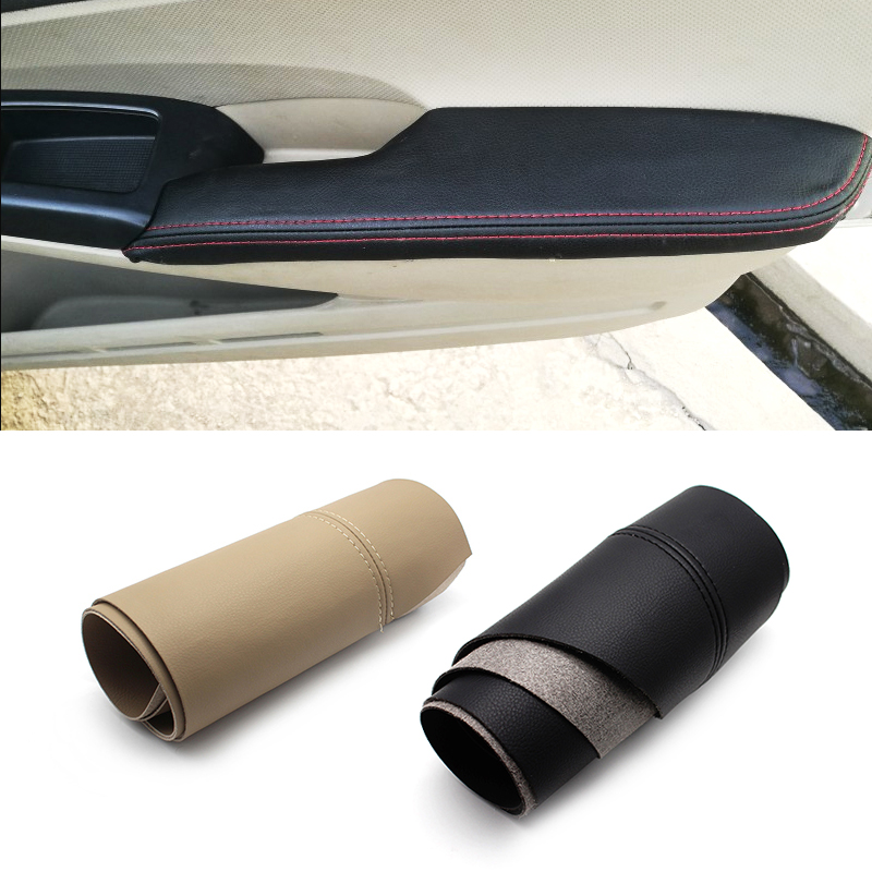 Image 1 - Car Door Panel Armrest Handle Microfiber Leather Protective Cover Trim For for Honda Civic 8th Gen 2006 2007 2008 2009 2010 2011-in Interior Mouldings from Automobiles & Motorcycles