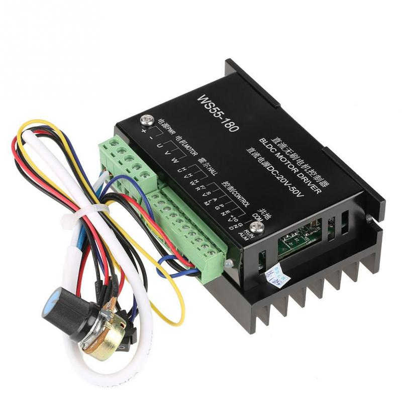 1 PC WS55-180 DC 20V-50V Motor Driver Controller CNC Brushless Spindle BLDC Motor Driver Controller motor speed regulator plc