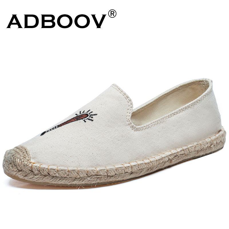 2018 New Embroidery Casual Shoes Woman Slip On Flat Shoes Women Sneakers Classic Canvas Loafers Espadrilles Alpargatas Feminina exotic chinese retro totem embroidery shoes woman canvas flat heel mules cool fish warping slip on slipper casual slides size 41