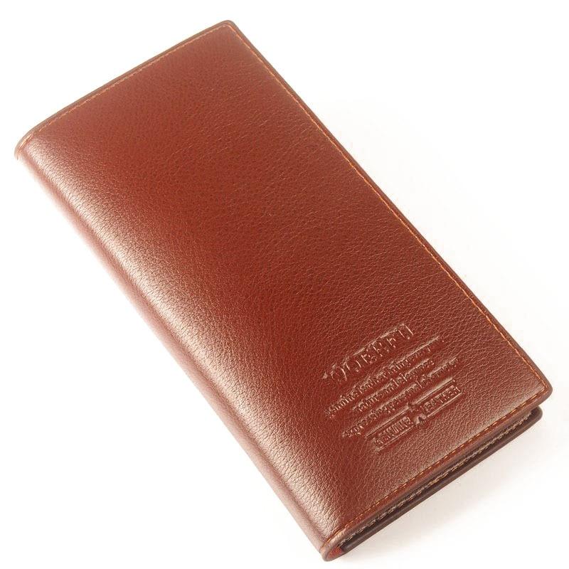 Hot sale! Famous Brand Men's PU Leather Long Wallet Money Handbag, Soft Cow Leather Ultra-thin Coin Bag Purse lan men s wallet ultra thin cow leather long wallet designed simple wallet