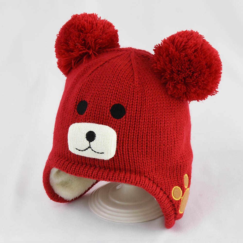 חורף חם תינוק בייסבול כובע קריקטורה דוב תינוק כובעי עבור בני אופנה ילדי כובע מתכוונן יילוד אבזרים