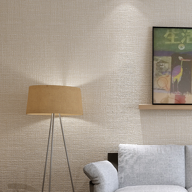 Texture 3d Flocking Solid Wallpaper Rolls for Bedroom Background 3d Wall paper roll 3d Wallcoverings