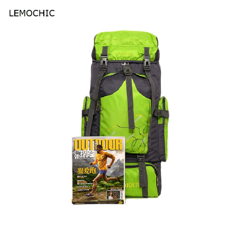 LEMOCHIC outdoor sport mountaineering hiking camping packs men high capacity backpack women professional climbing travel bags