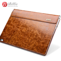 For Surface book case Oil Wax Vintage Genuine Cowhide Leather case for surface book 13.5 with stand function Laptop Iiner cover