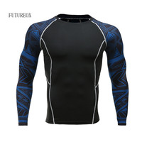 Men S Cool Dry Compression Baselayer Long Sleeve T Shirts Compression Shirts Join Spiderman MMA Fitness