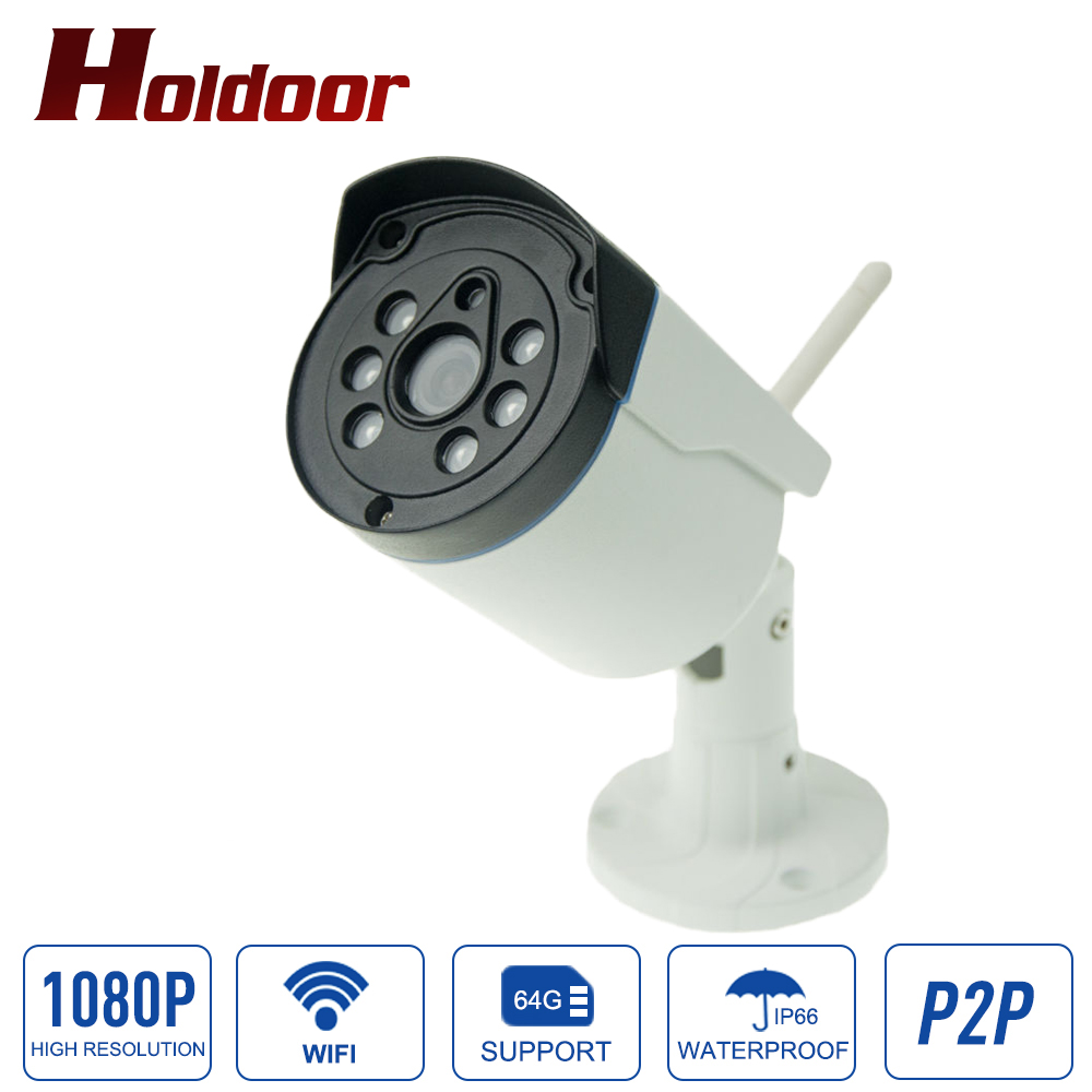 Onvif IP Camera WIFI Megapixel 1080P HD Outdoor Waterproof IP66 Wireless Security CCTV Cam Infrared SD Card Slot P2P Bullet Kame outdoor ip camera wifi megapixel 720p hd security cctv ip cam ir infrared sd card slot p2p v380 bullet kamera