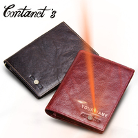 2018 Contact S Genuine Leather Vintage Wallet Passport Holder Travel Bag Coin Purse Credit Card Wallets