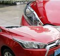 Car head light cover,auto front light trim l for Toyota Yaris 2014 2015,ABS chrome,2pc/lot