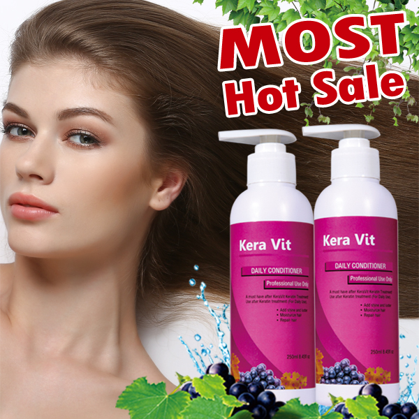 Kera Vit 250ml *2pcs  keratin treatment daily hair conditioner for smooth and repair hair free shipping